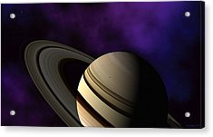 Saturn Rings Close-up Acrylic Print