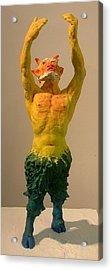 Satyr Prayer Acrylic Print by Gary Kaemmer