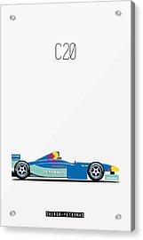 Sauber Petronas C20 F1 Poster Acrylic Print by Beautify My Walls