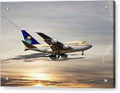 Saudi Arabian Government Boeing 747-sp Acrylic Print