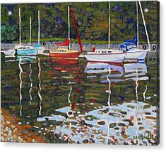 Saugeen Sailboats Acrylic Print by Phil Chadwick