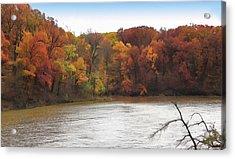 Sauk Lake Autumn Acrylic Print