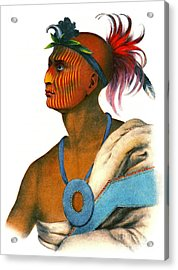 Acrylic Print featuring the photograph Sauk Warrior 1842 by Padre Art