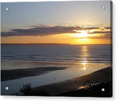 Saunton Sands Sunset Acrylic Print