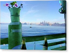 Sausalito Cafe Acrylic Print by Michael Cleere