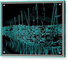 Sausalito Harbor Digitalized Acrylic Print