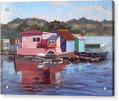 Sausalito Houseboats Acrylic Print