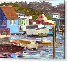 Sausalito Houseboats No 2 Acrylic Print