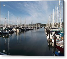 Sausalito Yacht Harbor - The Best Harbor In The San Francisco Bay Area. Acrylic Print