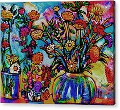 Sauvie Island Flowers Acrylic Print by Angelina Marino