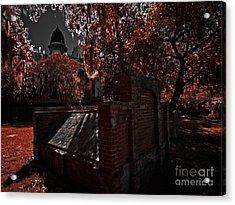 Savanna Georia Colonial Park Cemetery Color Infrared 500 Acrylic Print by Rolf Bertram