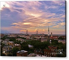 Savannah At Sunset Acrylic Print by Marilyn Carlyle Greiner