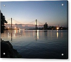 Savannah Bridge Evening  Acrylic Print