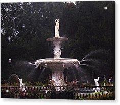 Savannah Fountain Acrylic Print by Kim Zwick