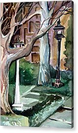 Savannah Park Acrylic Print by Mindy Newman
