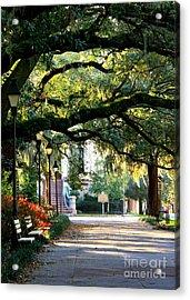 Savannah Park Sidewalk Acrylic Print