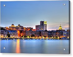 Savannah Skyline Acrylic Print by Shawn Everhart