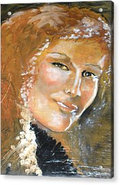 Savannah Smiles Again Finished Acrylic Print by J Bauer