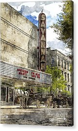 Savannah Theatre Acrylic Print by Carrie Cranwill