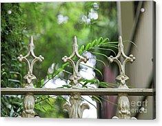 Savannah White Fence Acrylic Print