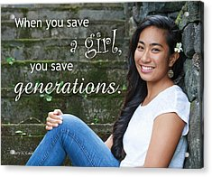 Save A Girl Acrylic Print