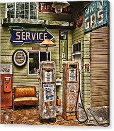 Save On Gas Acrylic Print