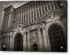 Save The Depot - Michigan Central Station Corktown - Detroit Michigan Acrylic Print by Gordon Dean II