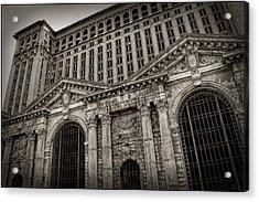 Save The Depot - Michigan Central Station Corktown - Detroit Michigan Acrylic Print by Gordon Dean II