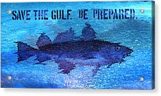 Save The Gulf America Acrylic Print