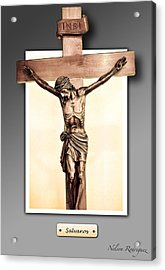 Save Us Acrylic Print by Nelson Rodriguez