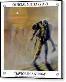 Savior In A Storm Acrylic Print by Todd Krasovetz
