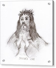 Savior's Love Acrylic Print by Sonya Chalmers