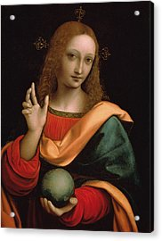 Saviour Of The World Acrylic Print by Giovanni Pedrini Giampietrino