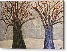 Sawsan's Trees Acrylic Print by Mario Perron