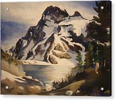 Sawtooth Mountain Lake Acrylic Print by Debbie Anderson