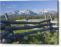 Sawtooth Range Acrylic Print