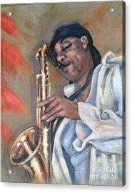 Sax And Linen Acrylic Print