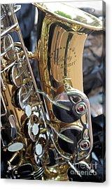 Sax In The City Acrylic Print