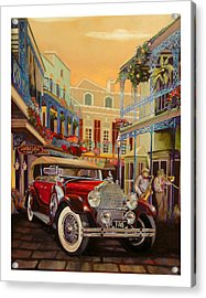 Sax In The City Acrylic Print by Mike Hill