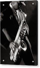 Sax Man 1 Acrylic Print by Tony Cordoza