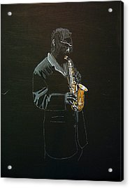 Sax Player Acrylic Print