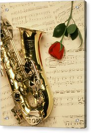Sax Romance Acrylic Print