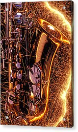 Sax With Sparks Acrylic Print by Garry Gay