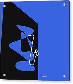 Saxophone In Blue Acrylic Print