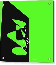 Saxophone In Green Acrylic Print