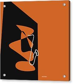 Saxophone In Orange Acrylic Print