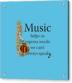 Saxophones Express Words Acrylic Print