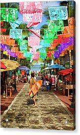 Sayu Flags 2 Acrylic Print