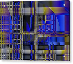 Acrylic Print featuring the digital art Scaffold II by Richard Ortolano