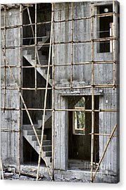 Scaffolds And Stairs Acrylic Print by Kathy Daxon
